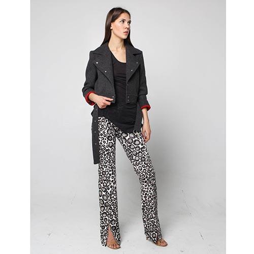 Куртка-косуха Maria Intscher серого цвета, фото