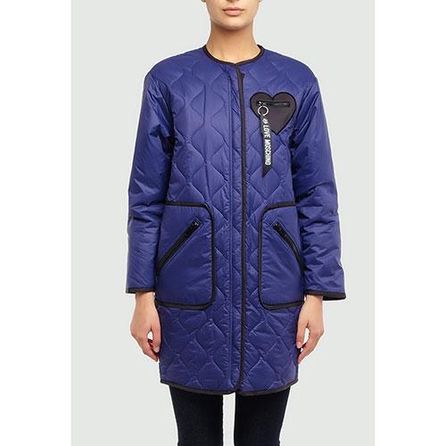 Синяя куртка Love Moschino с фигурной стежкой, фото