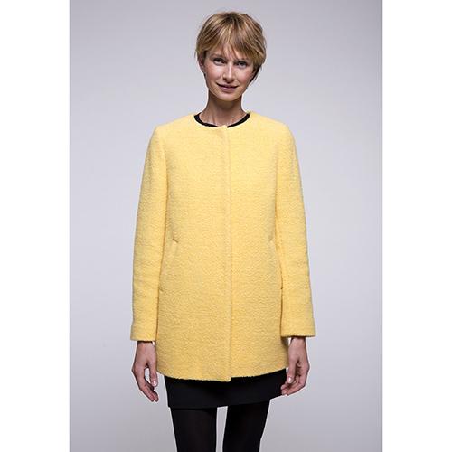 Пальто Trench & Coat прямого силуэта желтого цвета, фото