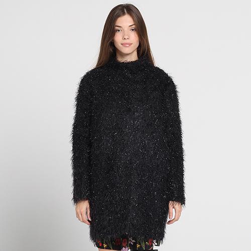 Черное пальто Blugirl Blumarine оверсайз, фото