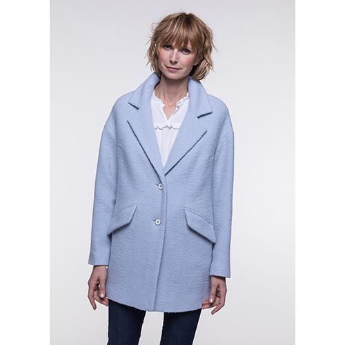Мягкое пальто Trench & Coat голубого цвета, фото
