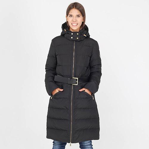 Зимняя куртка Michael Kors черного цвета средней длины, фото