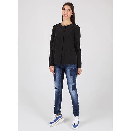 Куртка Armani Jeans из плащевой ткани расклешенная, фото