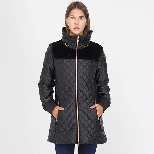 Стеганая куртка Ea7 Emporio Armani черного цвета, фото