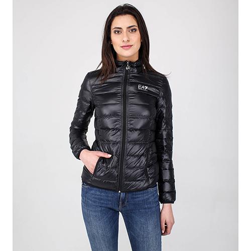 Легкая пуховая куртка Ea7 Emporio Armani черного цвета, фото