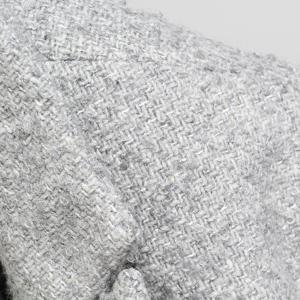 Пальто прямого кроя Kristina Mamedova серого цвета