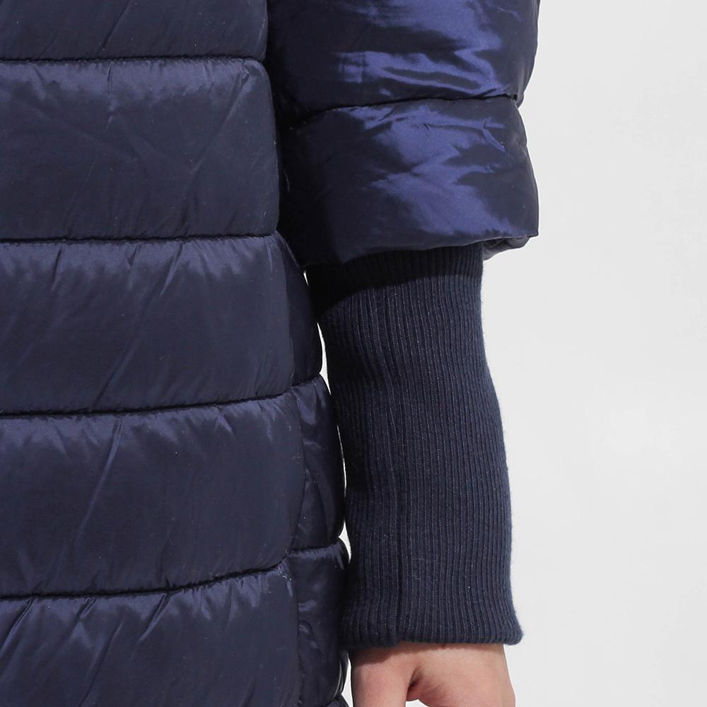 Стеганная синяя куртка Sandro Ferrone с воротником-стойкой