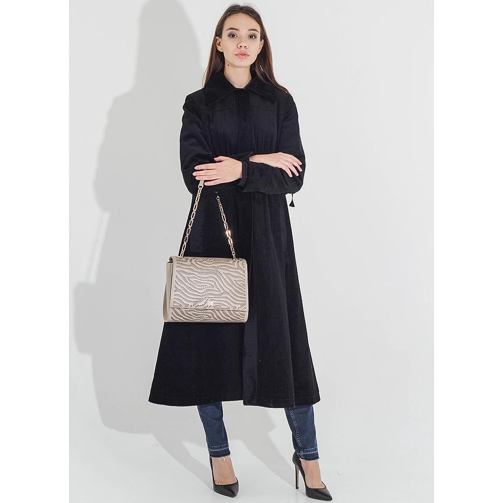 Вельветовое пальто-миди Sandro Ferrone приталенное