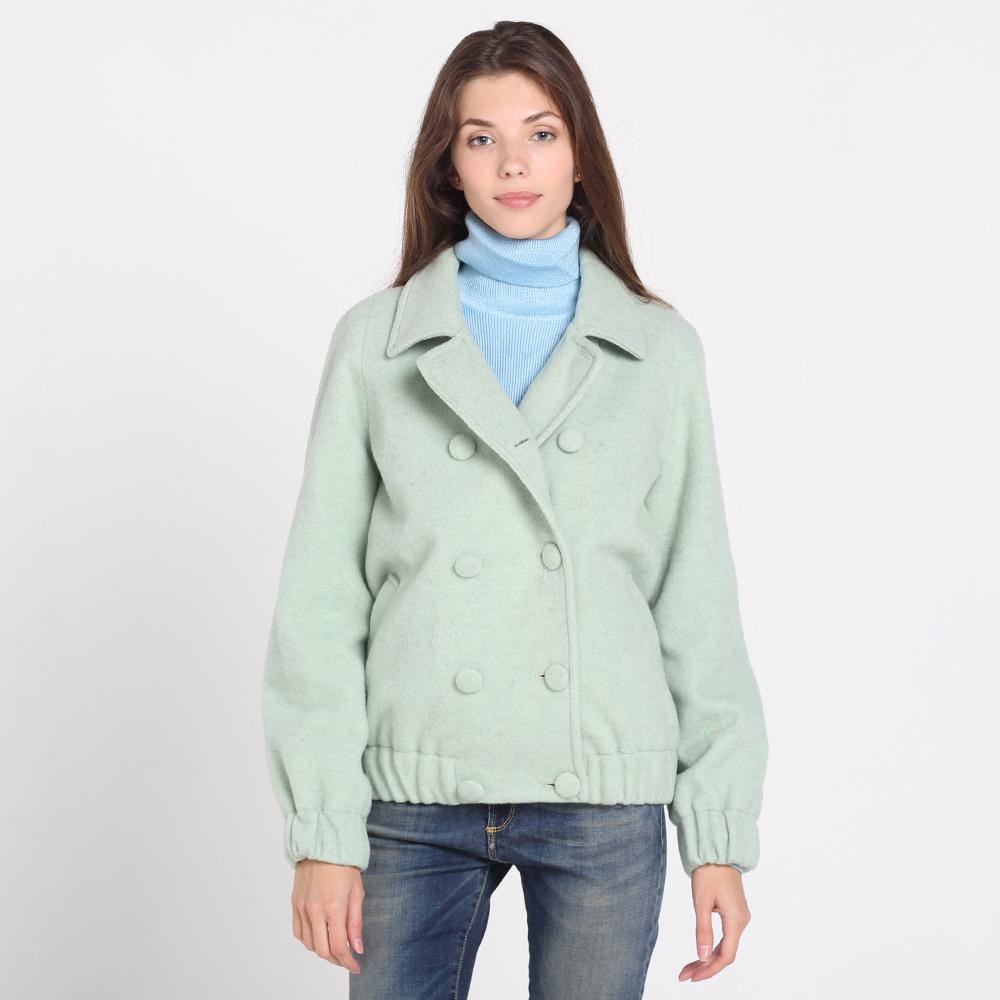 Шерстяная куртка на пуговицах Kristina Mamedova мятного цвета