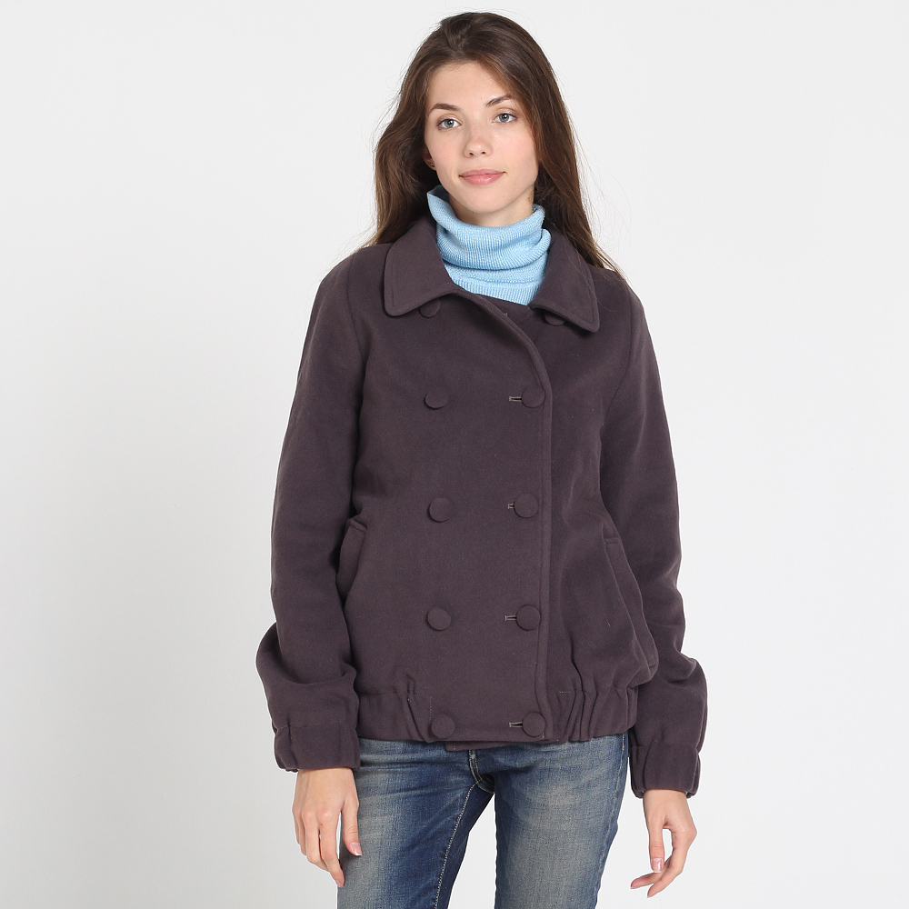 Куртка на пуговицах Kristina Mamedova из шерсти фиолетового цвета