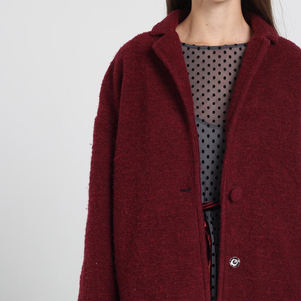Пальто оверсайз Kristina Mamedova бордового цвета
