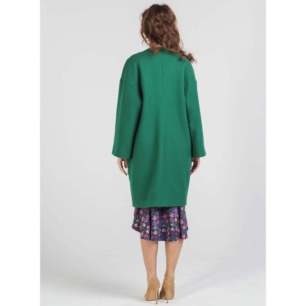 Шерстяное пальто Shako зеленого цвета с накладными карманами