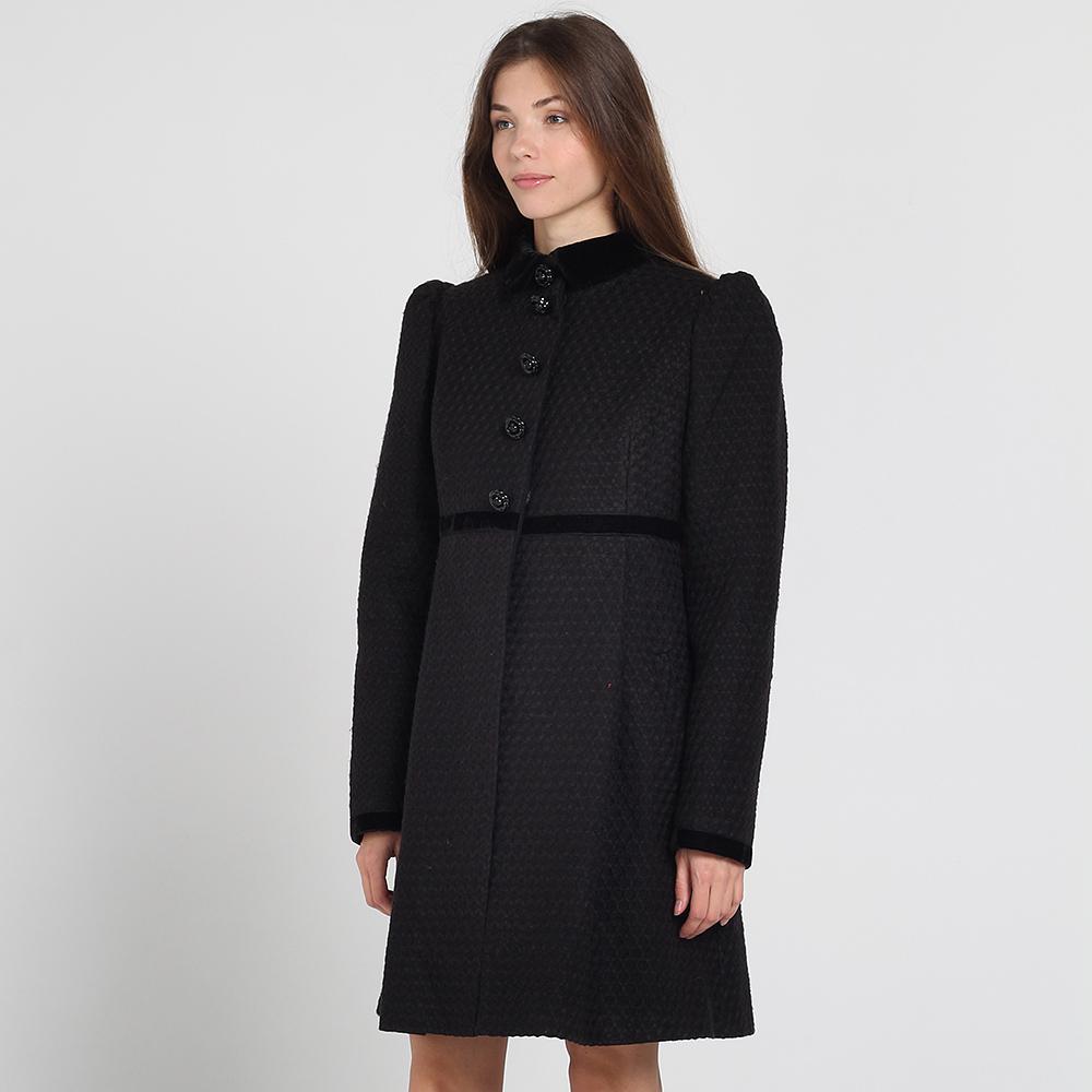 Черное пальто Kristina Mamedova с расклешенным низом