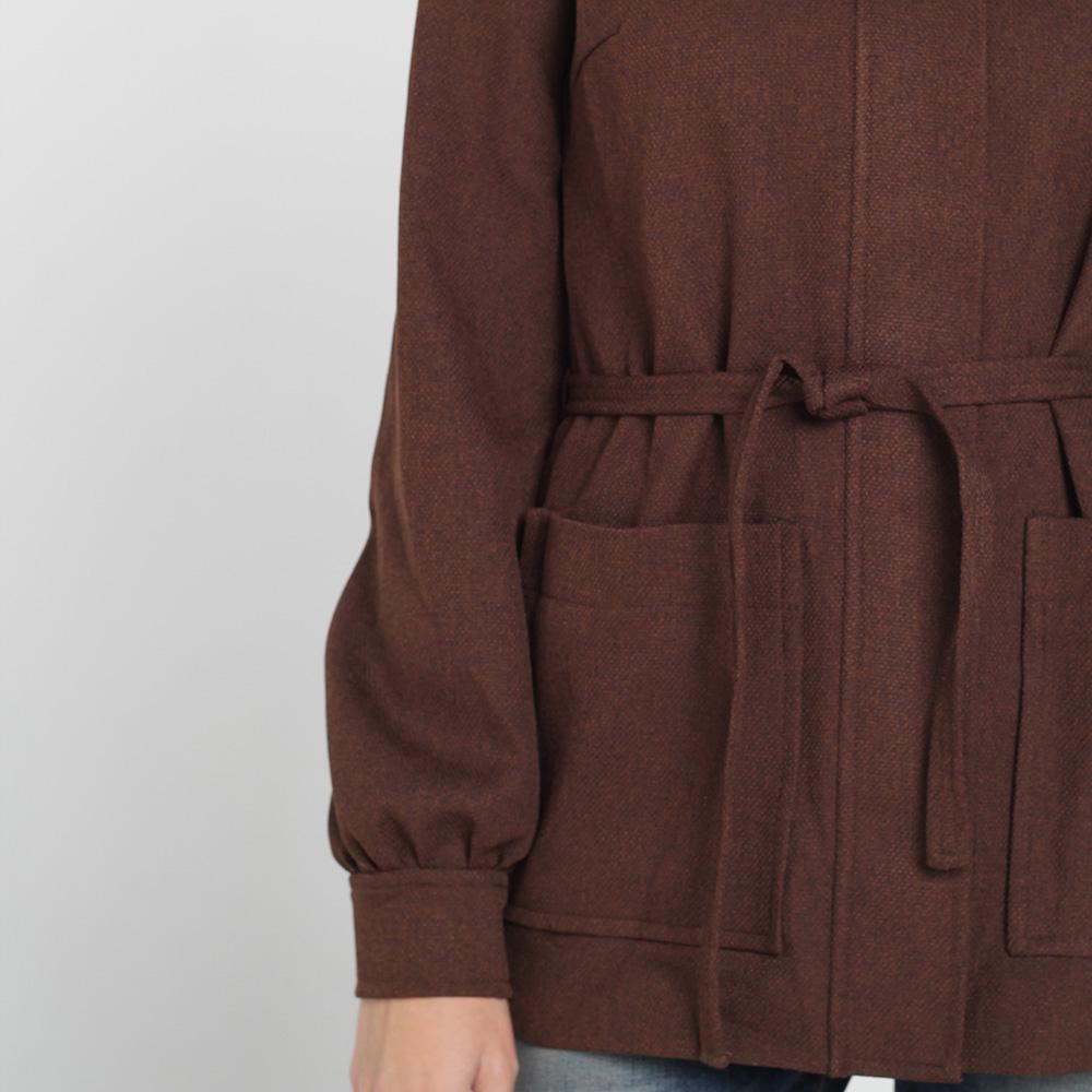 Коричневое шерстяное пальто Kristina Mamedova