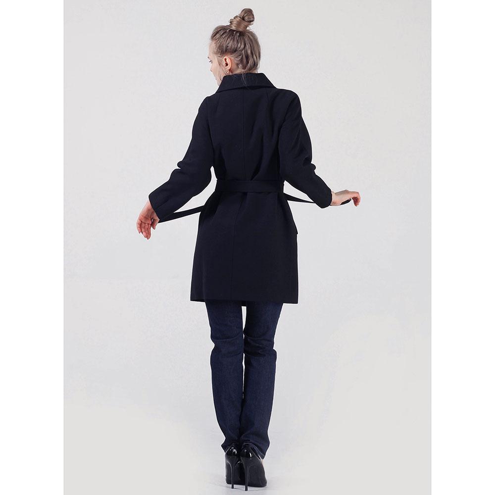 Двубортное зимнее пальто Cerruti черного цвета