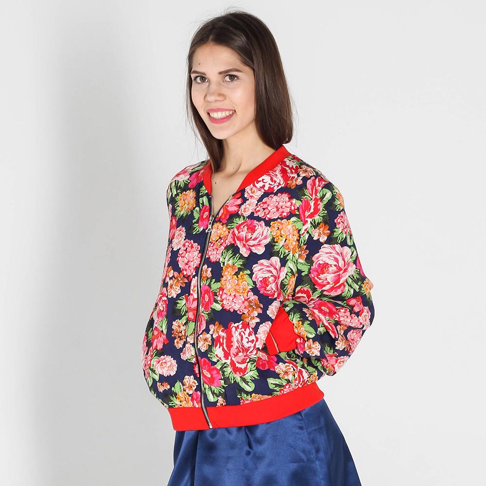 Бомбер Kristina Mamedova с цветочным принтом