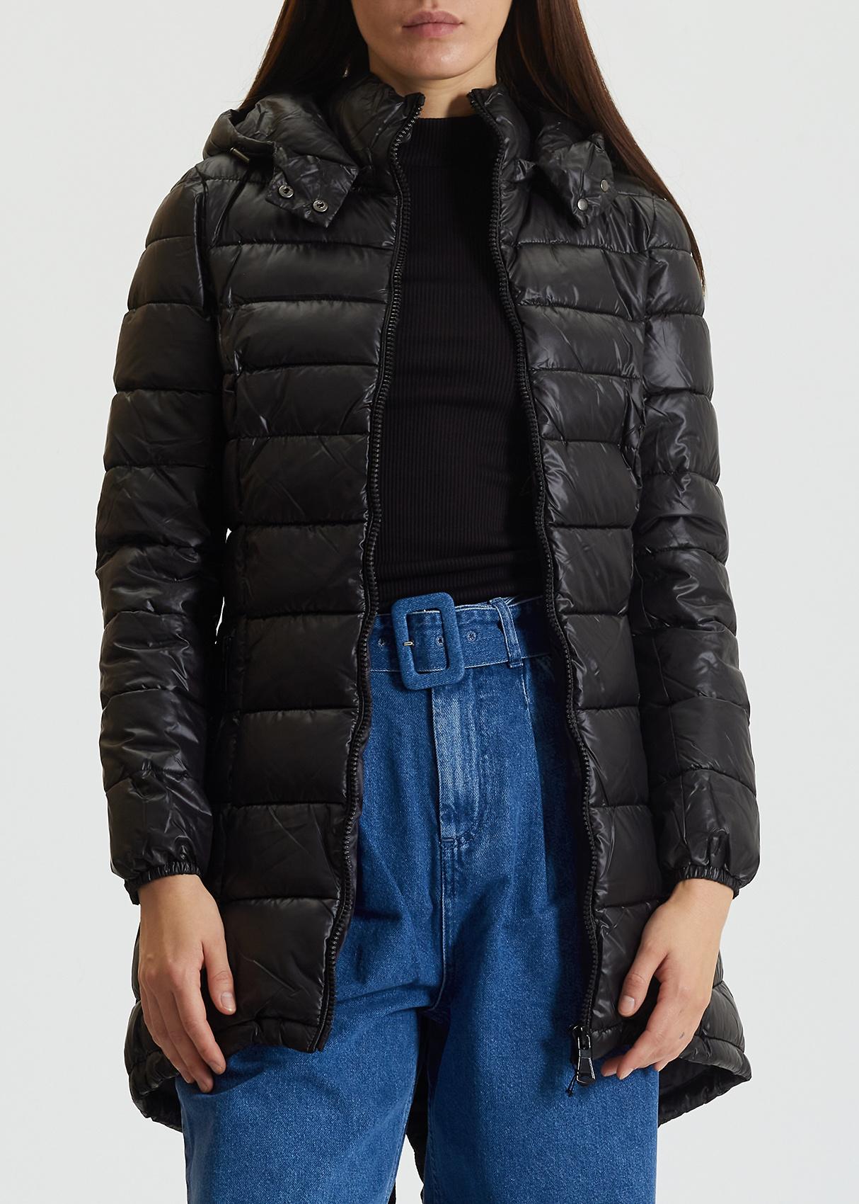 Черная куртка Trussardi Collection с горизонтальной стежкой