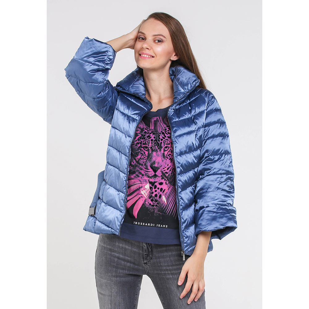 Синяя куртка Trussardi Jeans с перчатками в комплекте