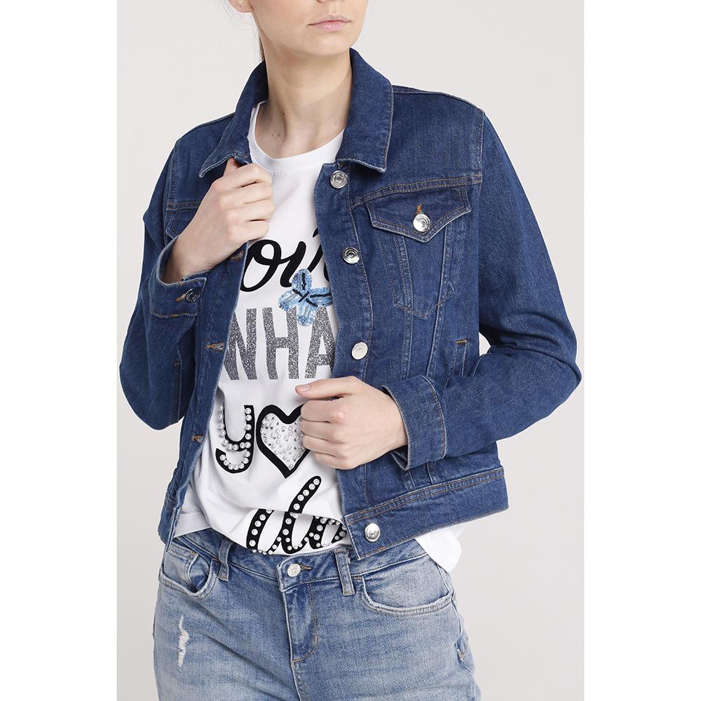 Джинсовая куртка Trussardi Jeans укороченная