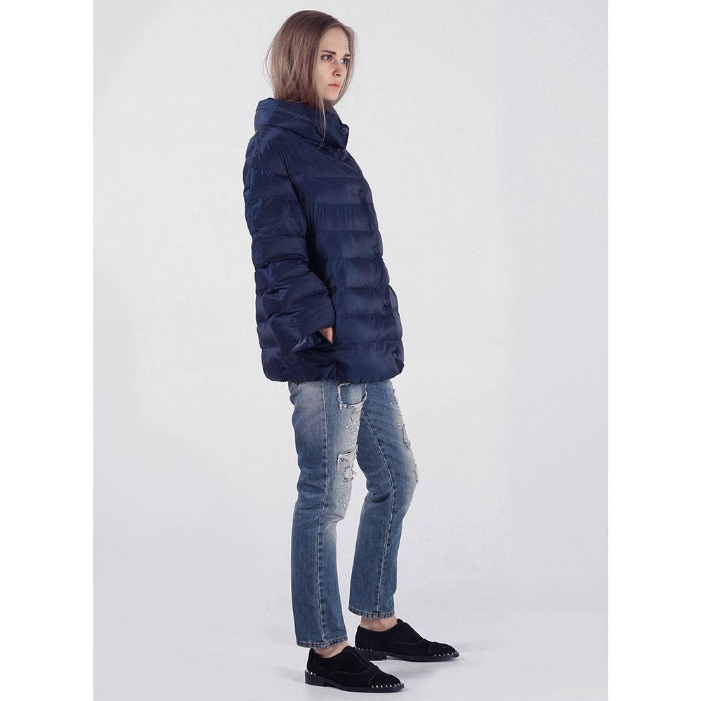 Объемная куртка Rinascimento синего цвета