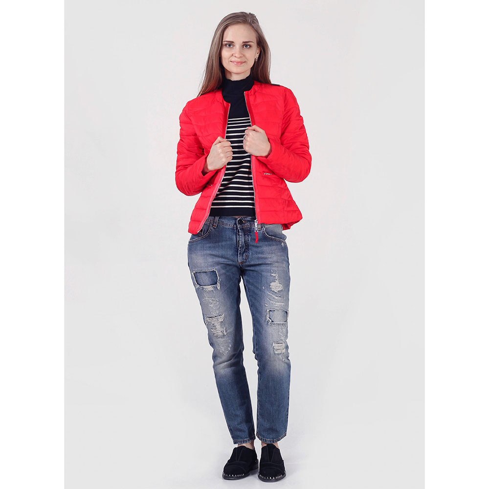 Короткая куртка Rinascimento красного цвета