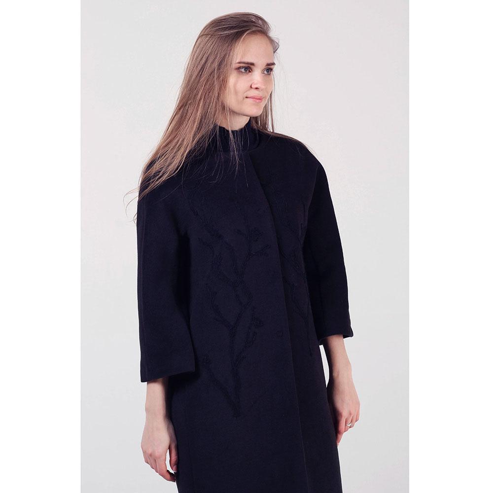 Пальто Rinascimento черного цвета с узором