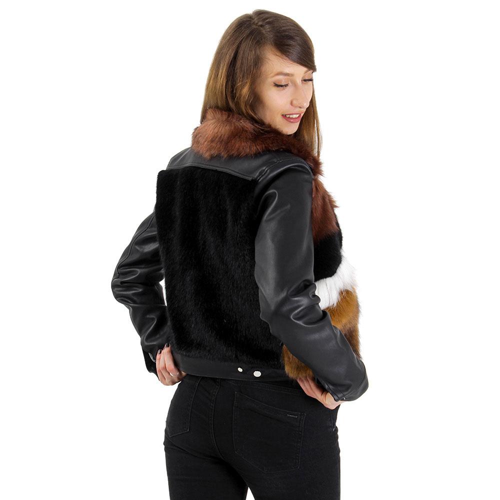 Куртка Urbancode London со вставками из искусственного меха