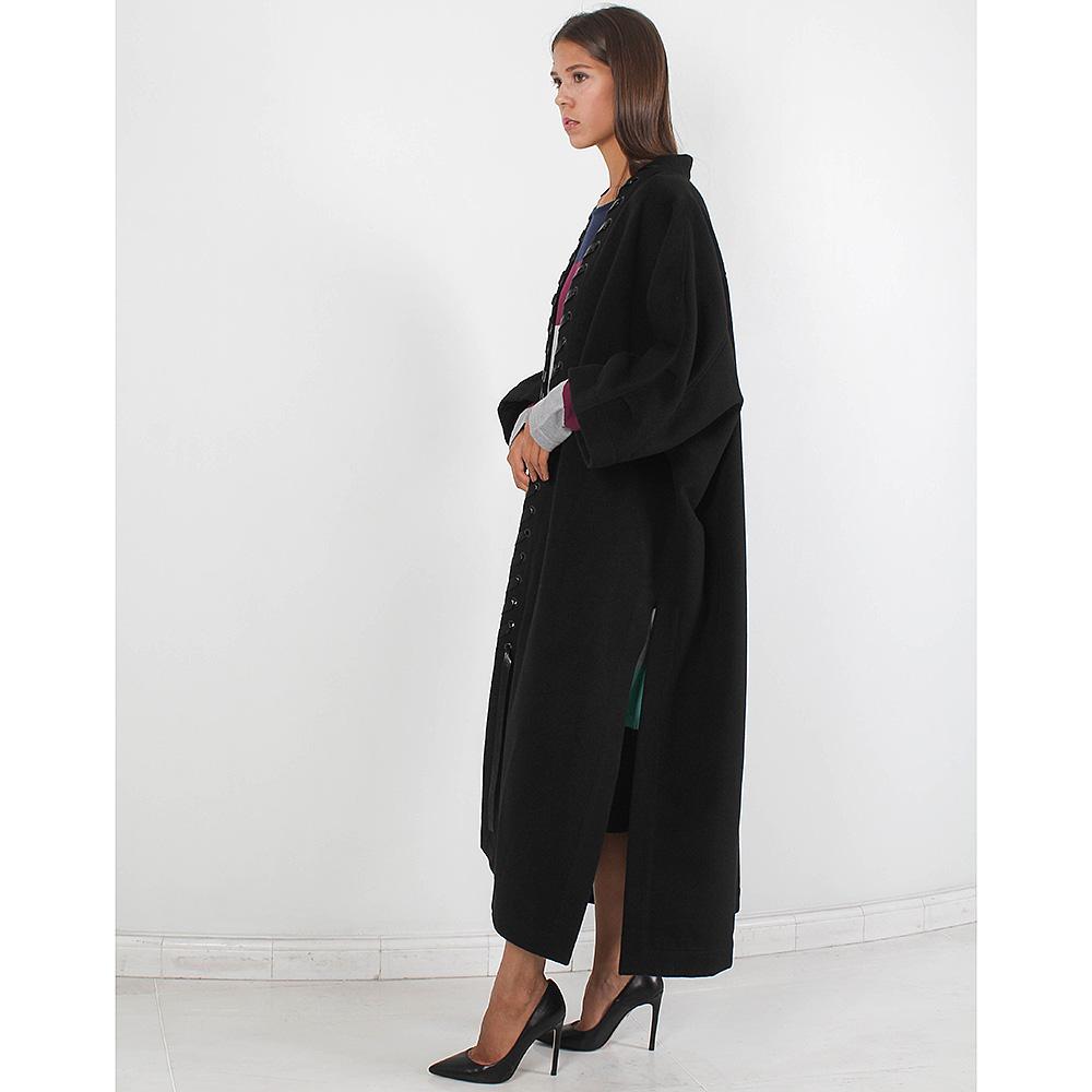 Кашемировое пальто Plein Sud с отделкой из кожи