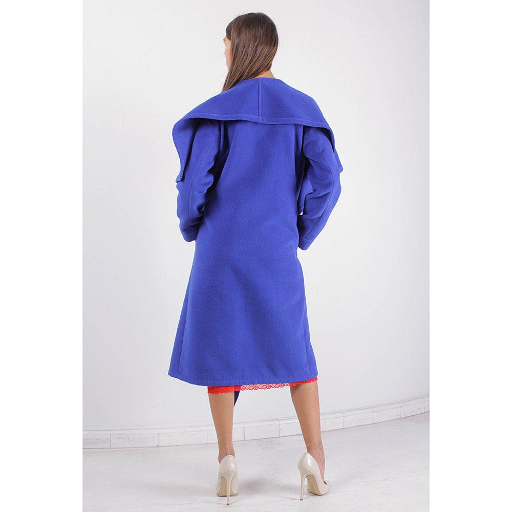 Пальто свободного кроя Plein SUD синего цвета