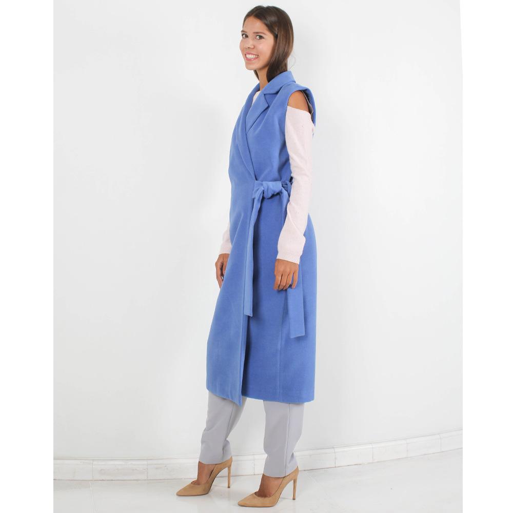 Пальто без рукавов FOREVER UNIQUE синего цвета