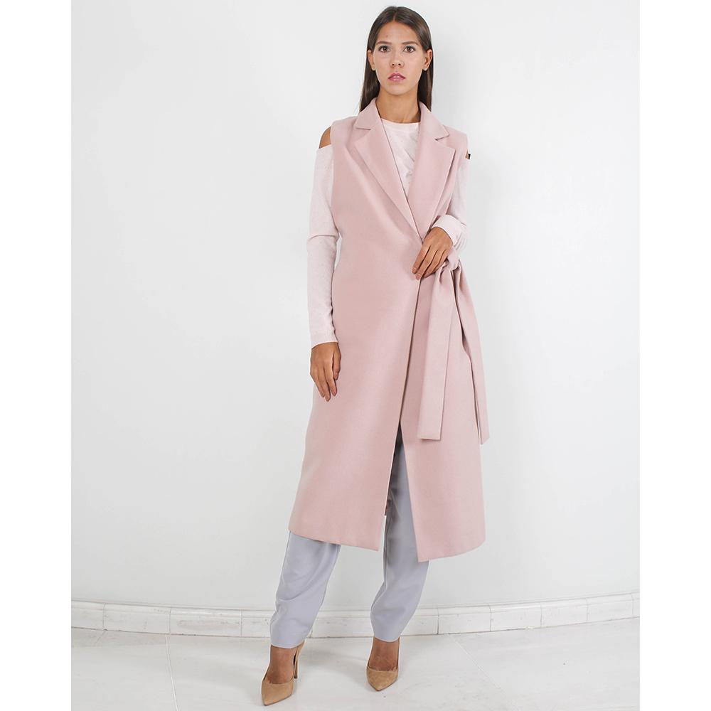 Пальто-жилет Plein Sud нежно-розового цвета