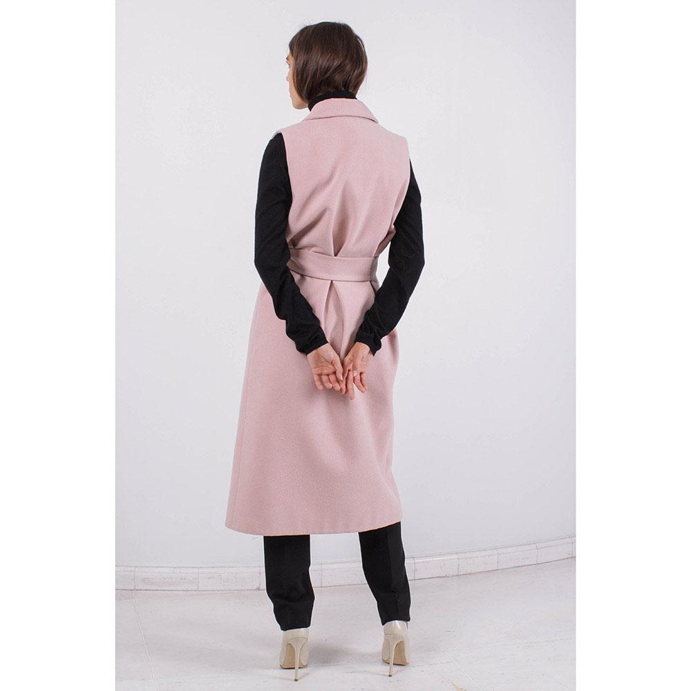 Пальто без рукавов Plein Sud бежевого цвета с запахом