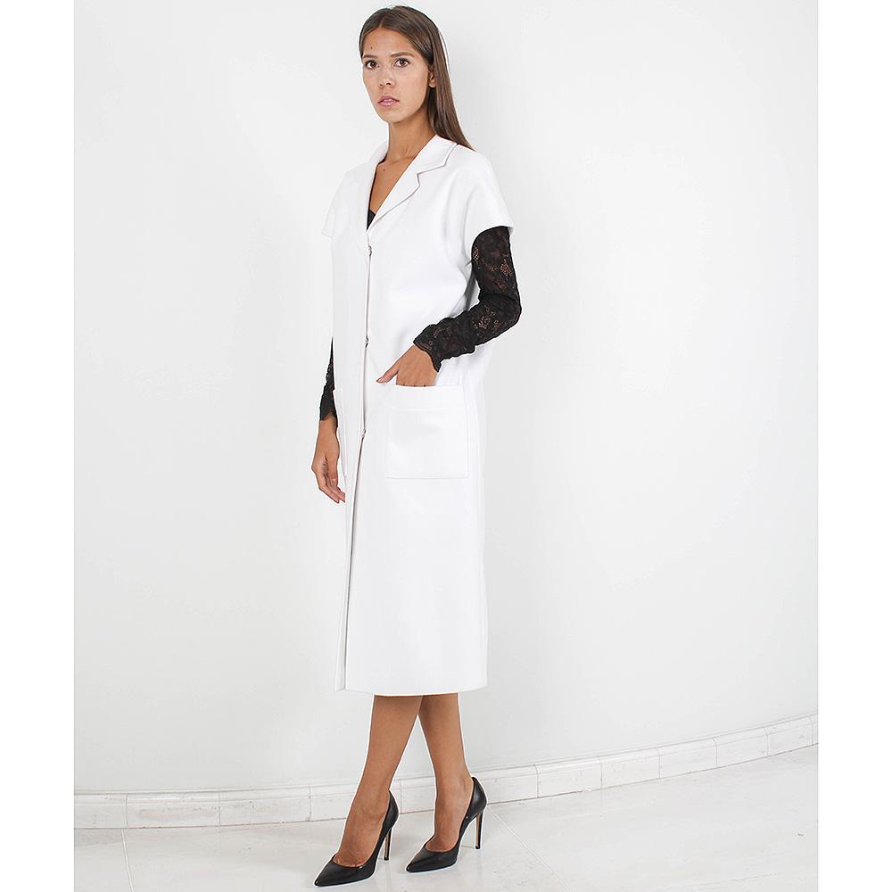 Пальто Plein Sud белого цвета с коротким рукавом