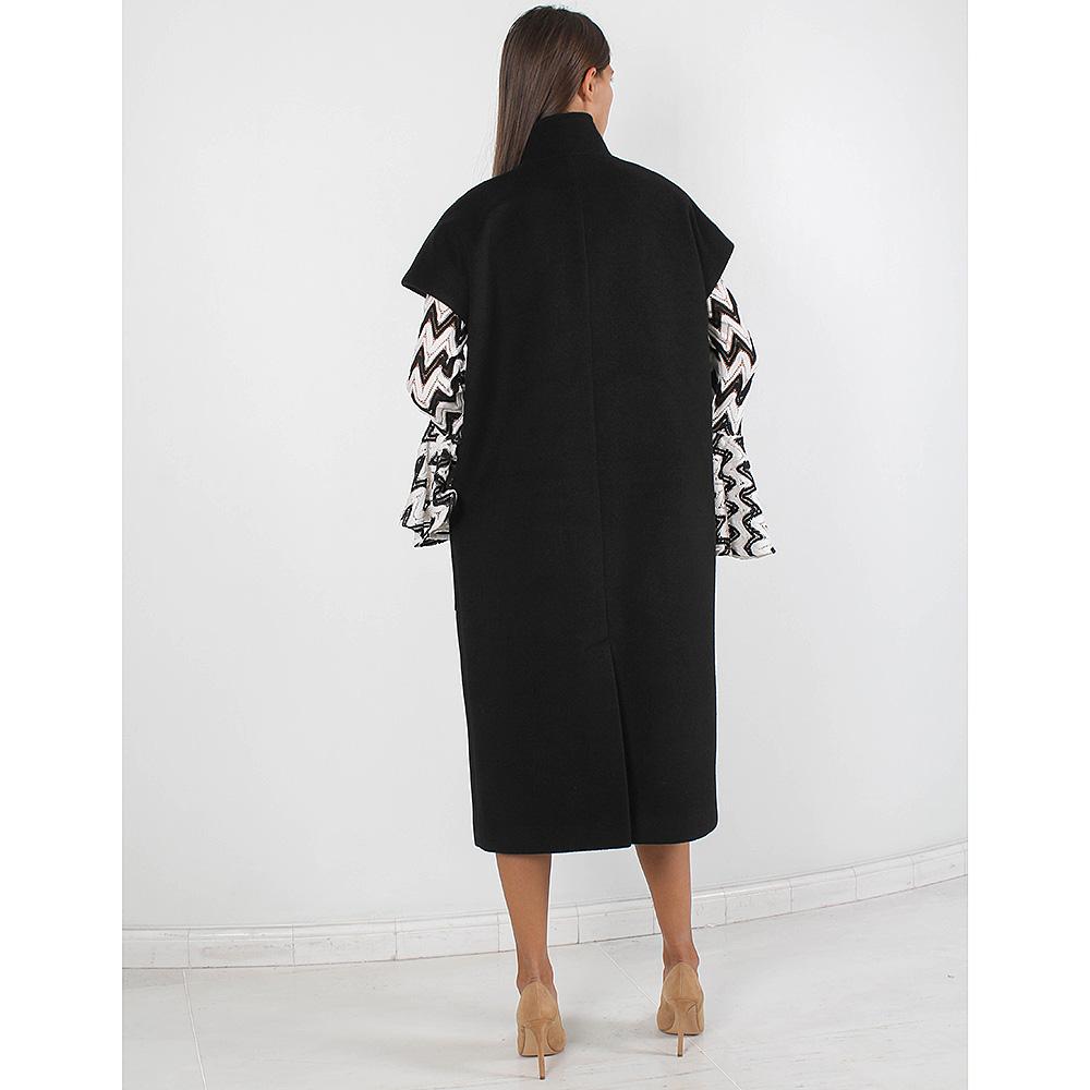 Пальто Plein Sud черного цвета с коротким рукавом