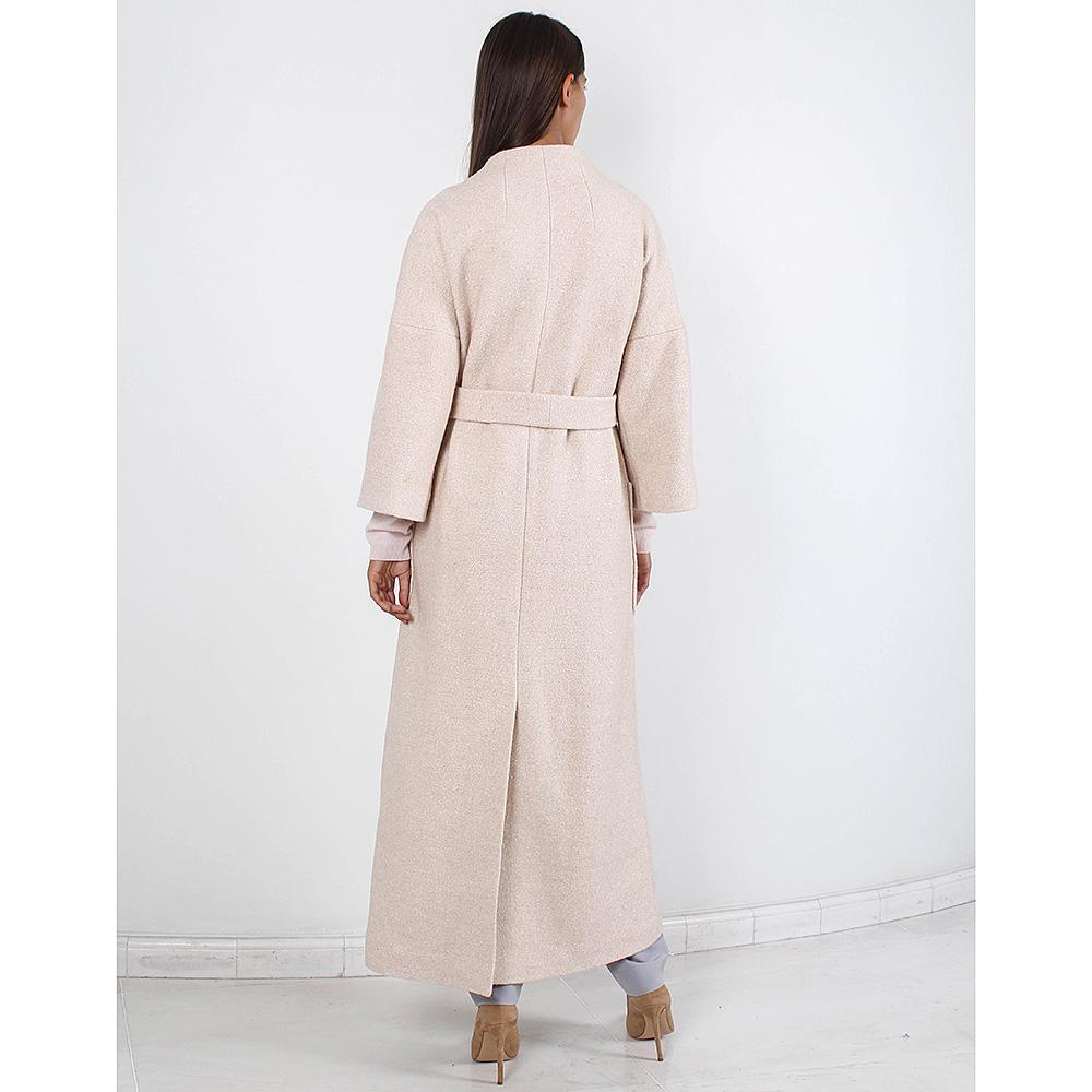 Длинное пальто Forever Unique бежевого цвета с накладными карманами