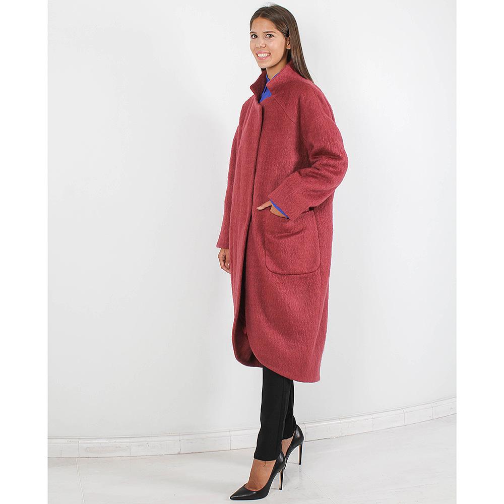 Пальто-оверсайз Forever Unique бордового цвета