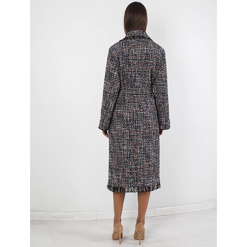 Твидовое пальто Forever Unique с бахромой