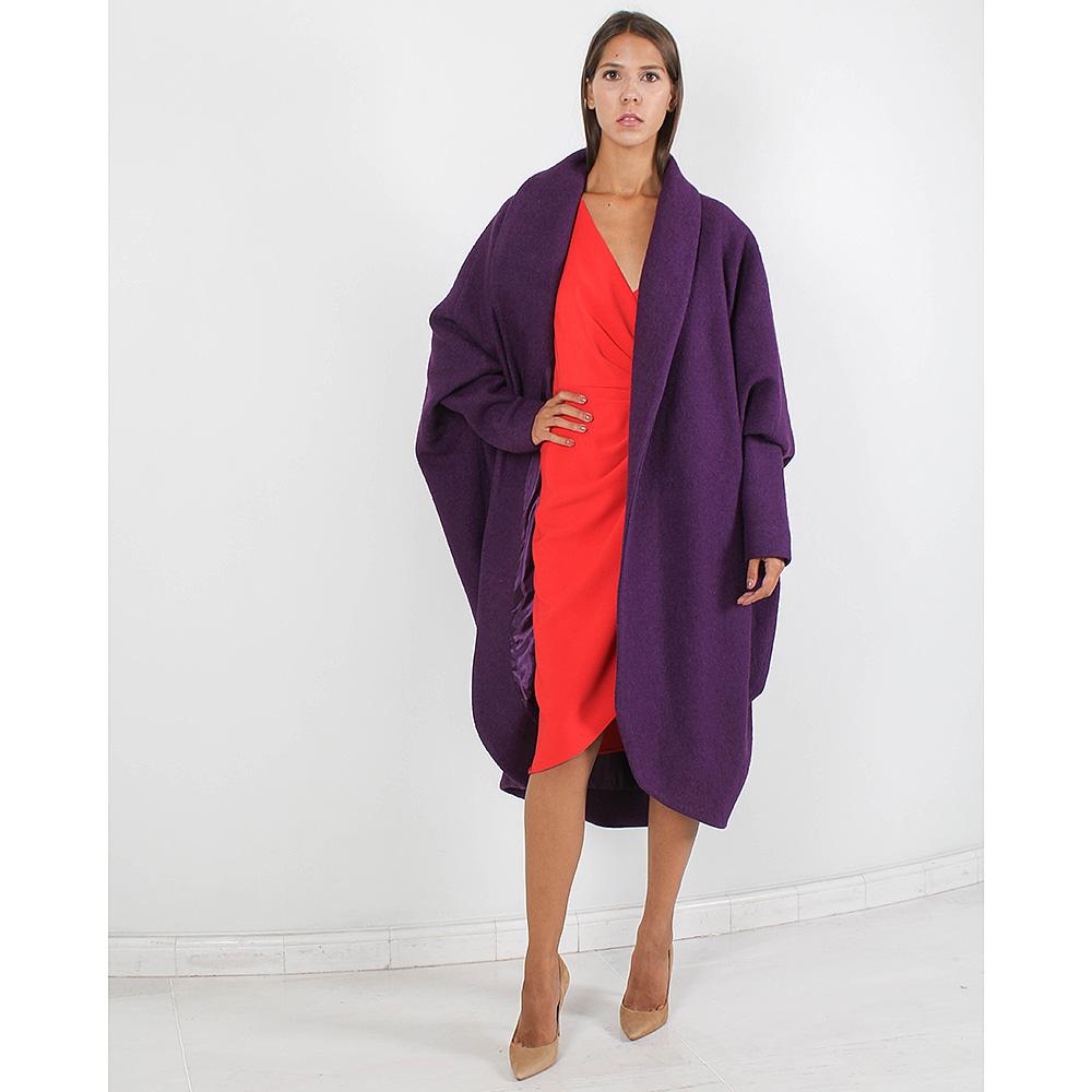 Пальто-оверсайз Forever Unique фиолетового цвета