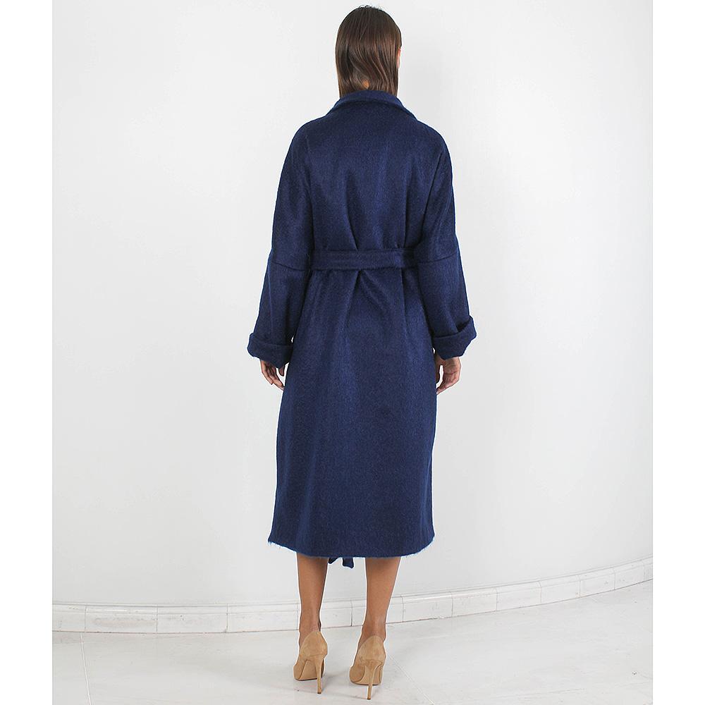 Шерстяное пальто Forever Unique синего цвета