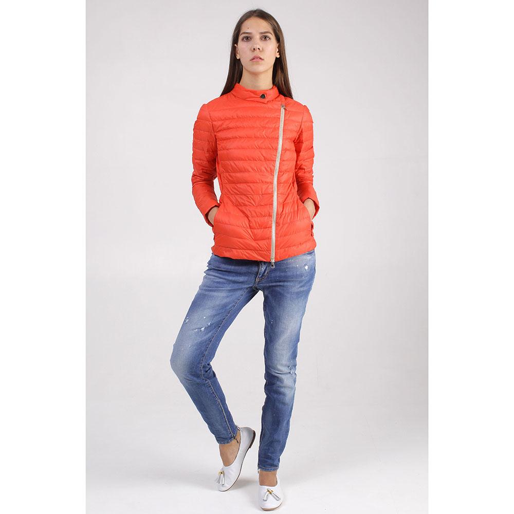 Красная куртка +MINI с ассиметричной молнией