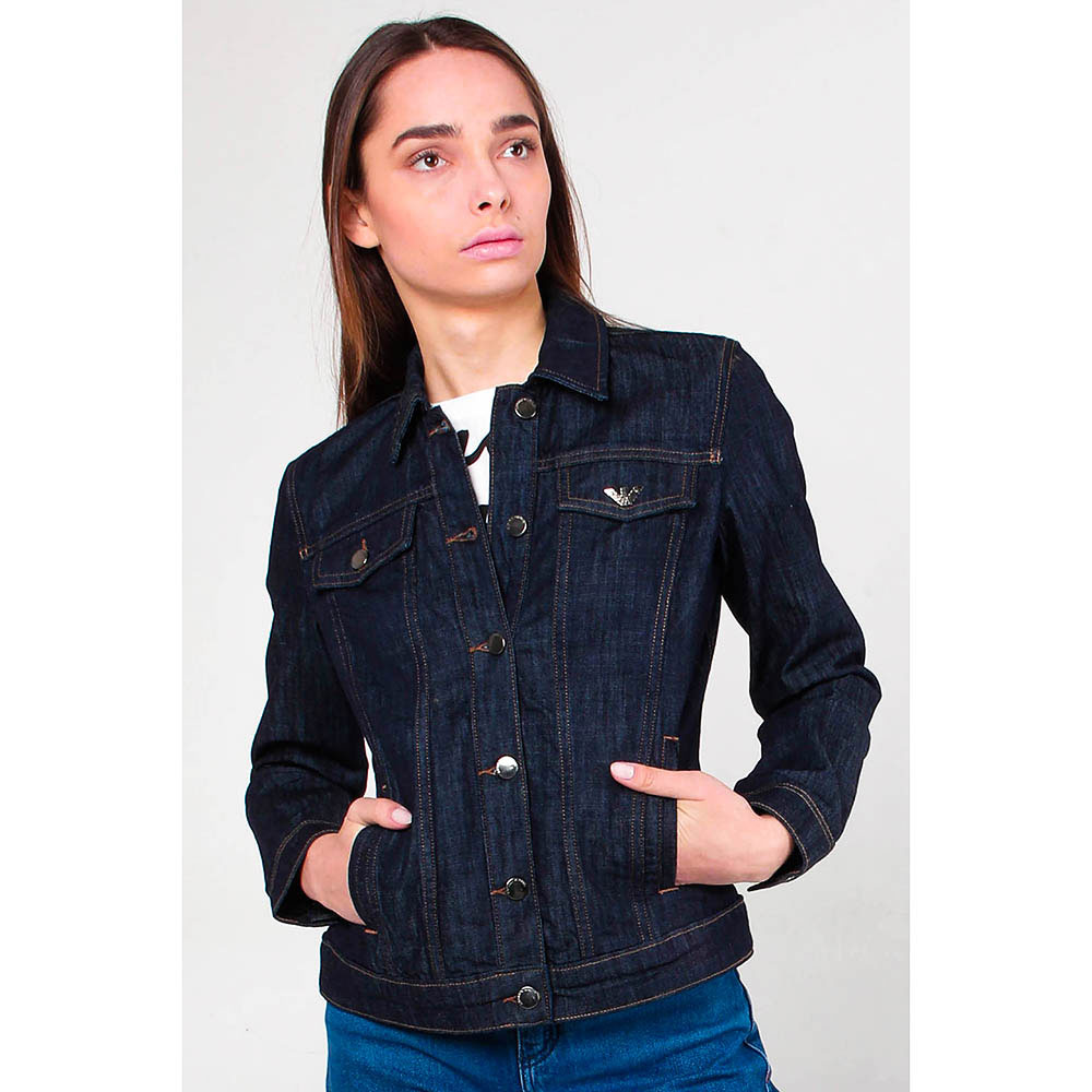 Джинсовая куртка Emporio Armani на пуговицах