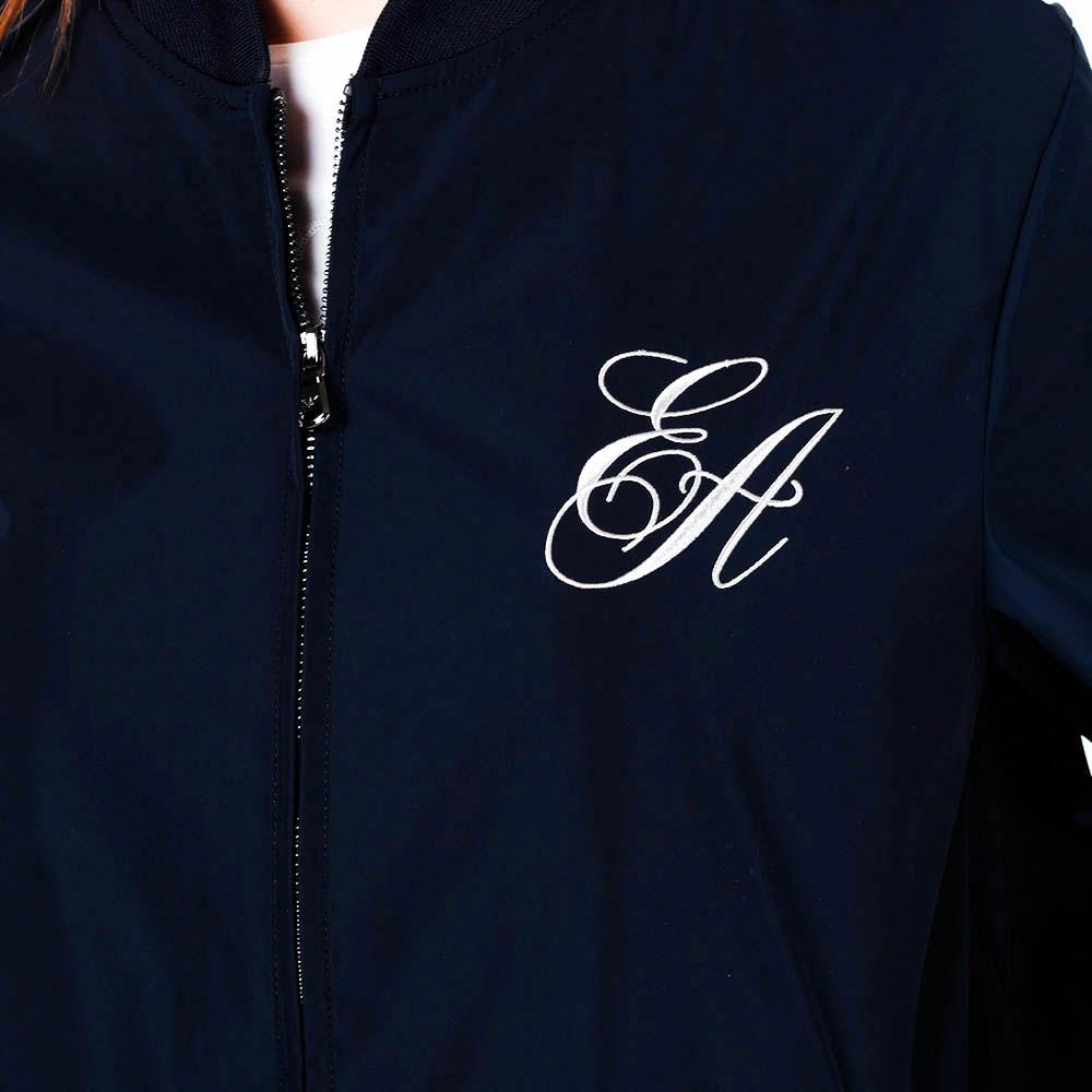 Синяя куртка Emporio Armani с завязками
