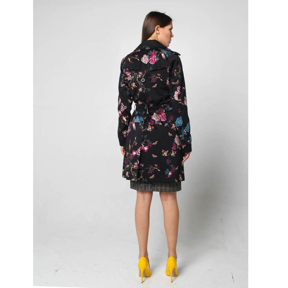 Коттоновый плащ Fornarina с цветочным принтом