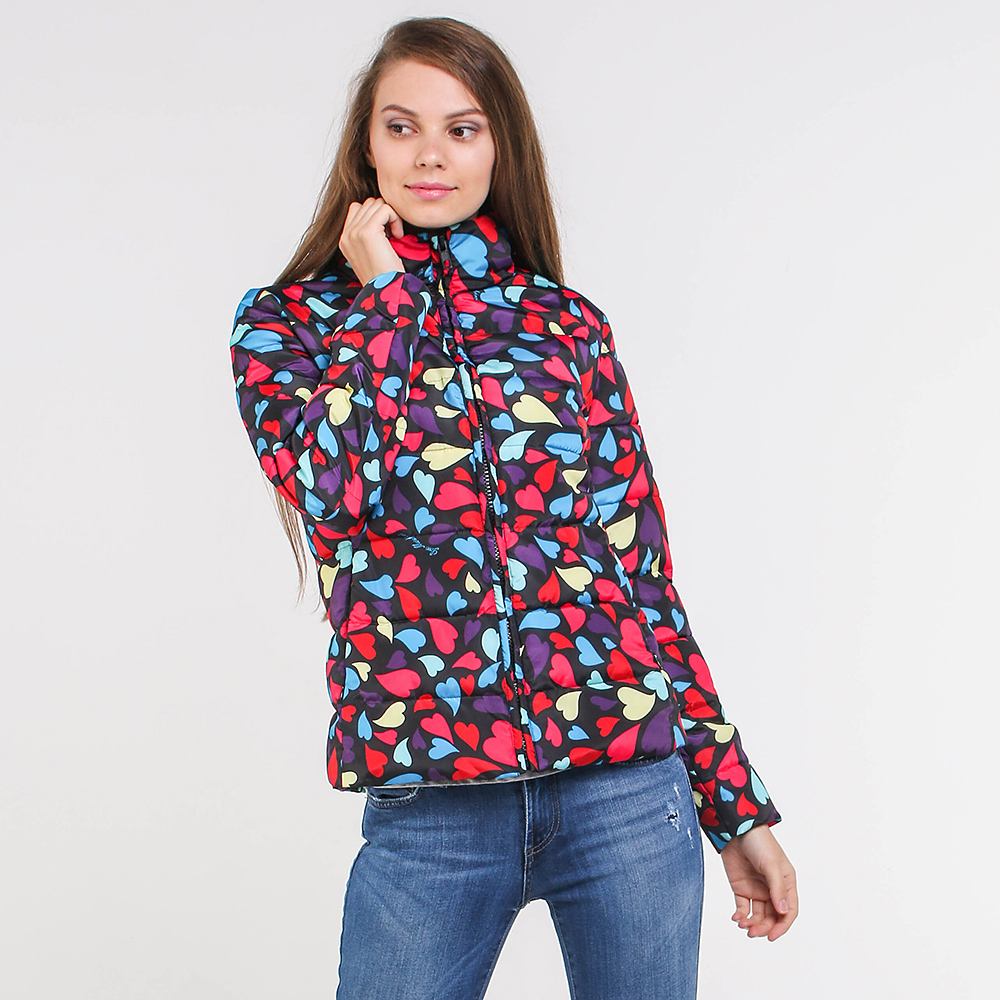 Куртка Love Moschino с принтом-сердечки
