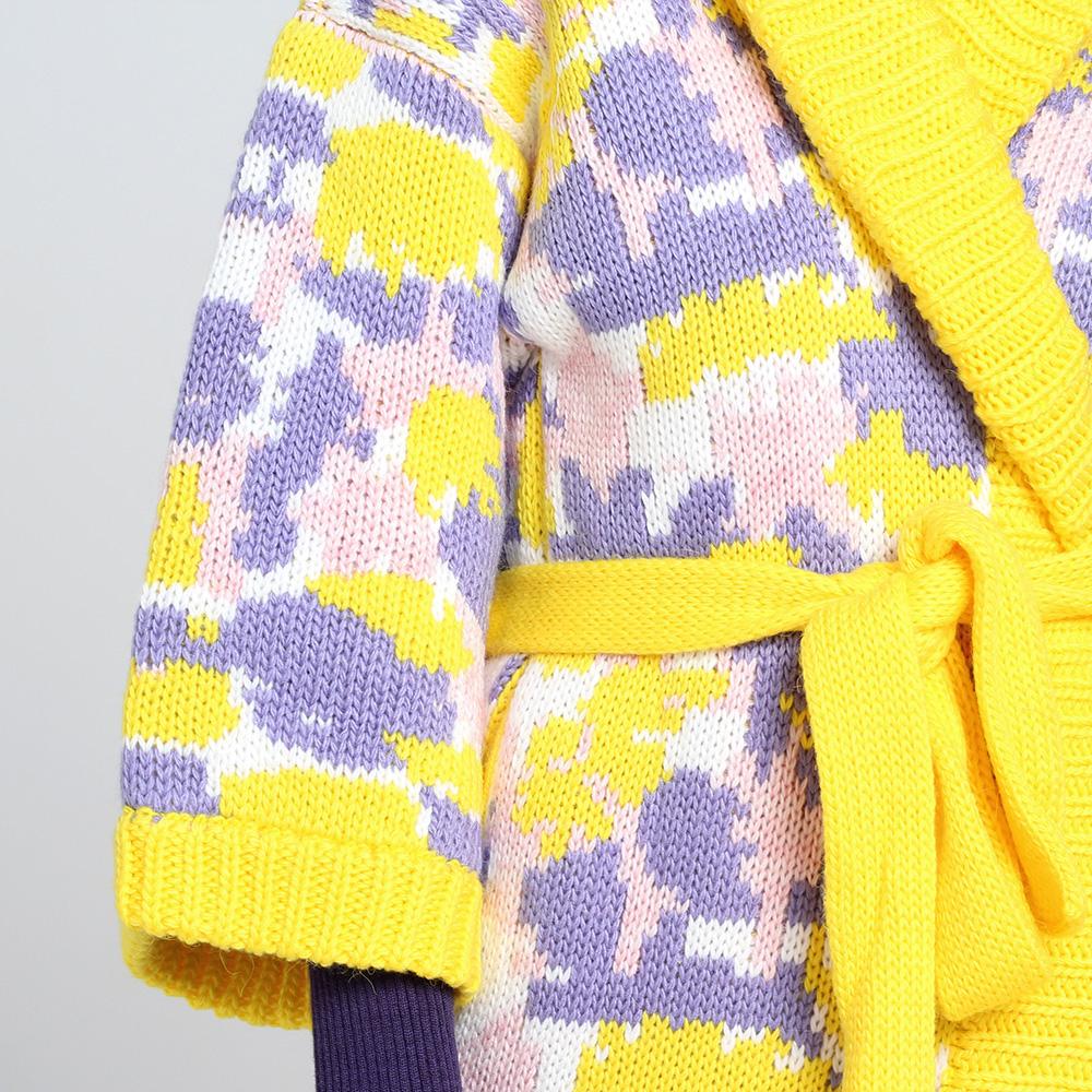 Длинное вязаное пальто Nit.ka с абстрактным узором