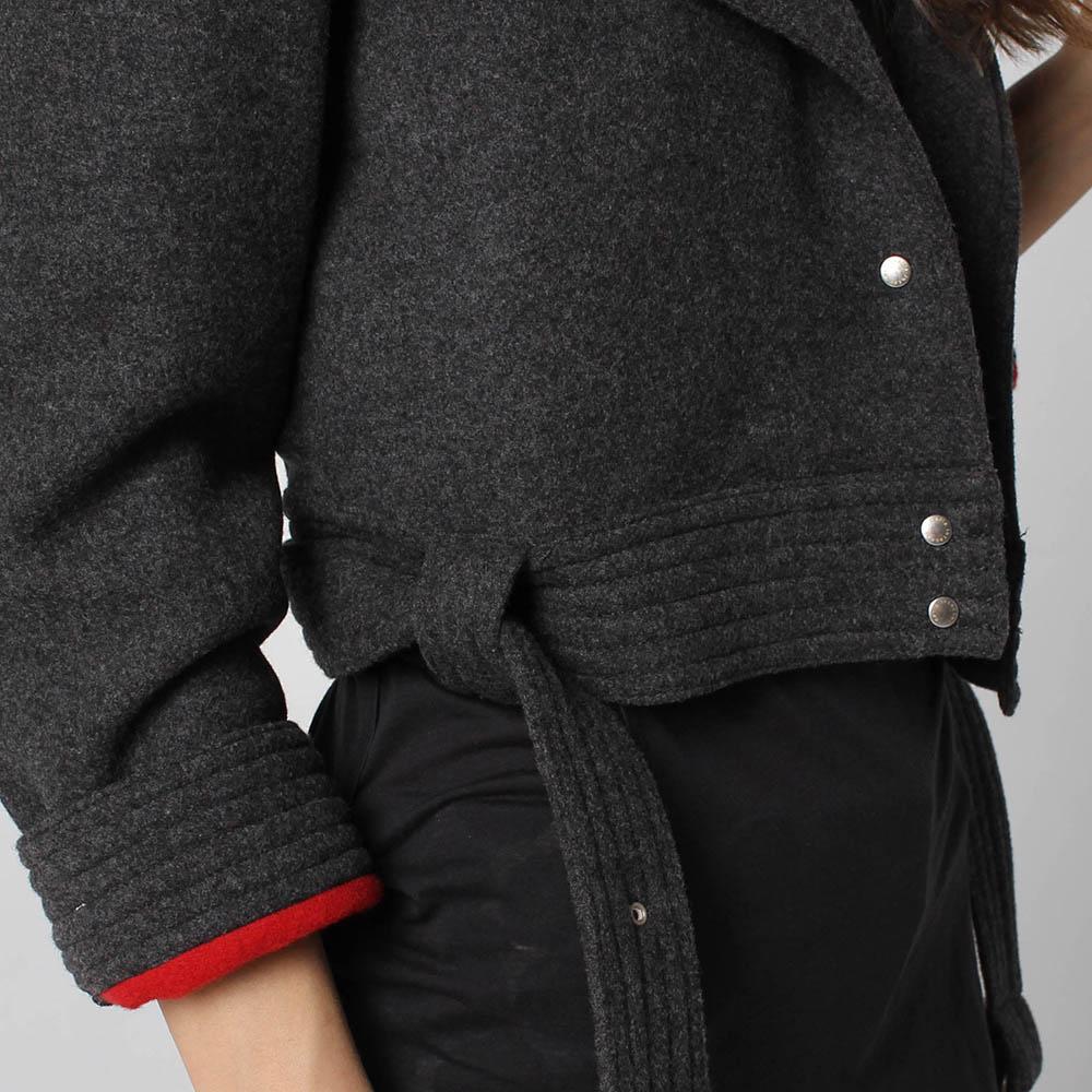Куртка-косуха Maria Intscher серого цвета
