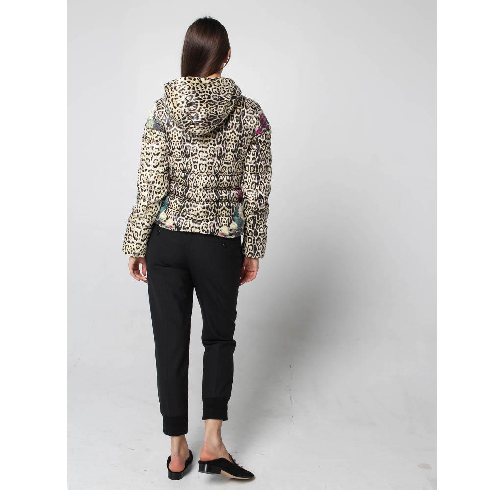 Куртка-пуховик Fracomina с анималистичным принтом