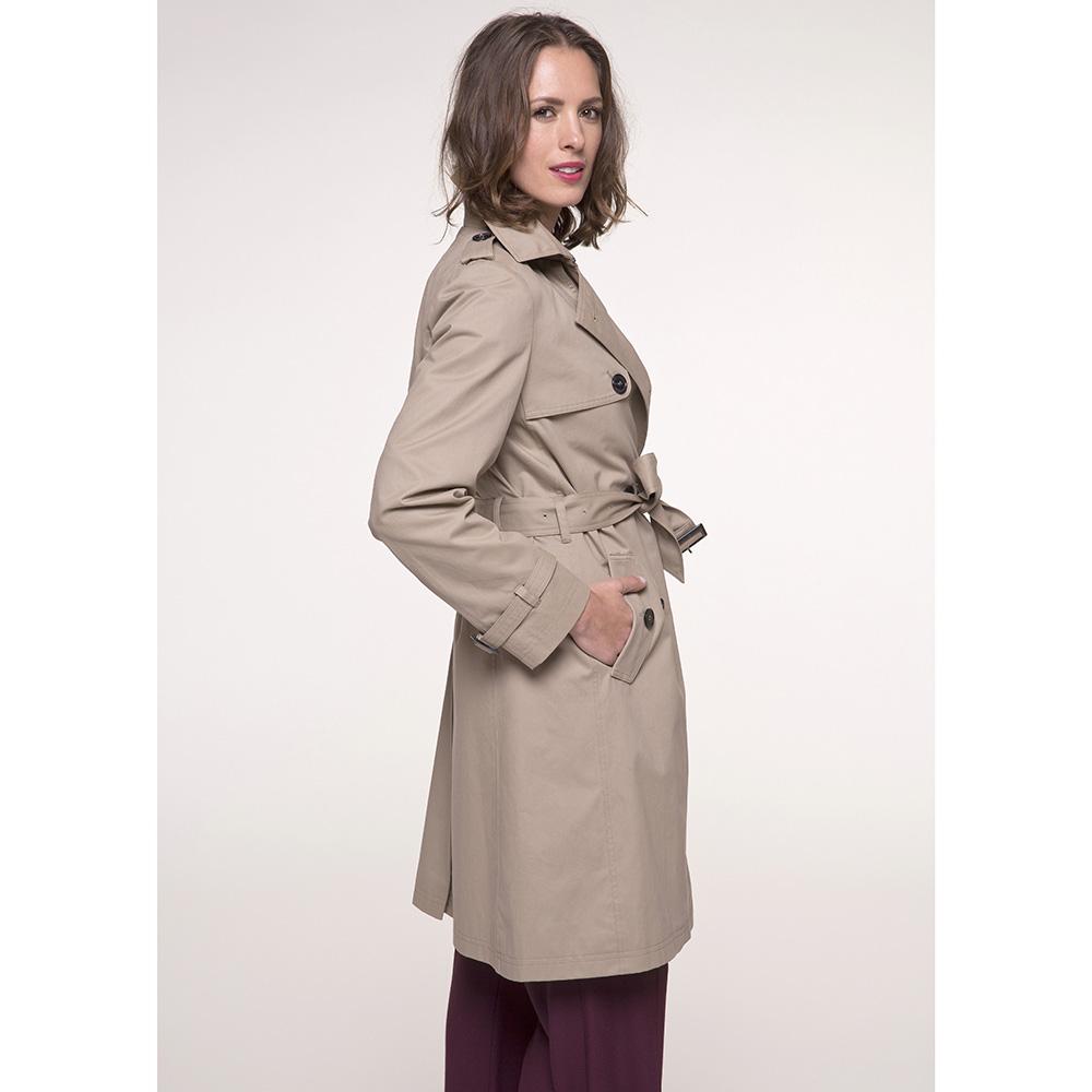 Тренч двубортный Trench & Coat бежевого цвета