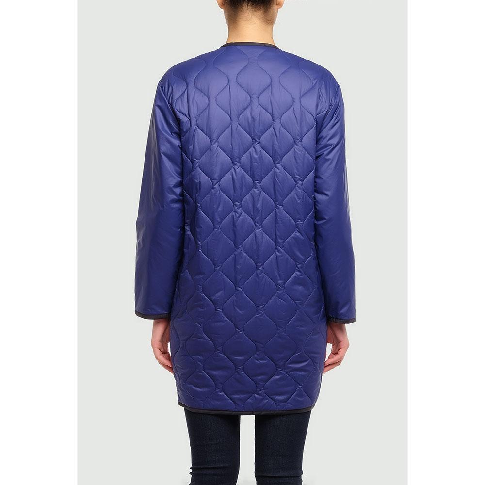Синяя куртка Love Moschino с фигурной стежкой