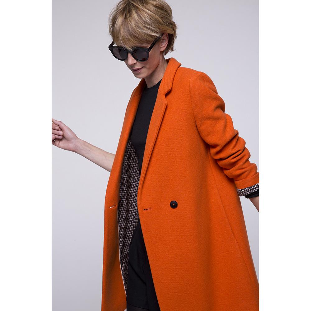 Пальто Trench & Coat двубортное оранжевого цвета